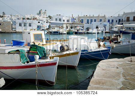 Fishing boat in a little village in Greece