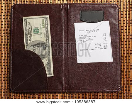Folder With Bill And Money