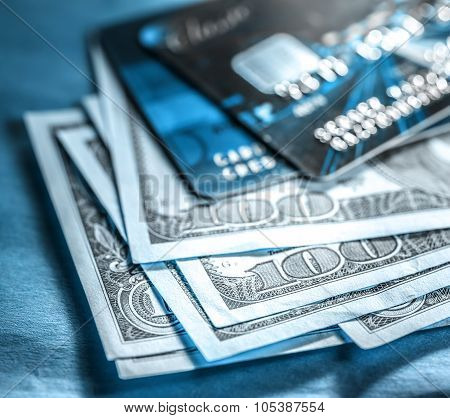 Credit Cards And Dollars In Cash