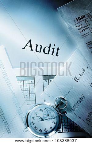 Budget, Calendar, Stopwatch And Audit