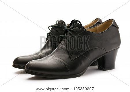 Black Female Pump Leather Shoes