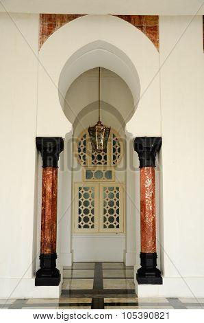 Door of Ubudiah Mosque at Kuala Kangsar, Perak, Malaysia