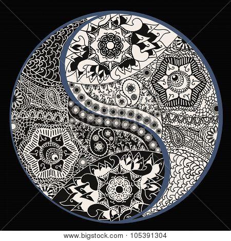 Yin Yang Symbol, Asian Decoration Element