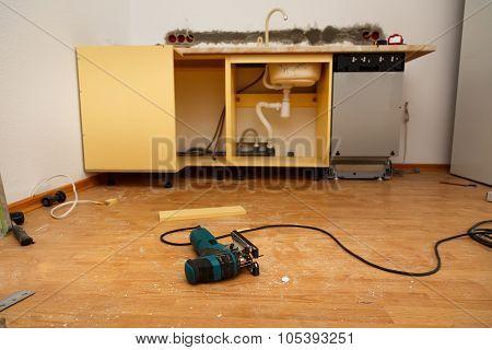 Dishwasher Installation In The New Kitchen