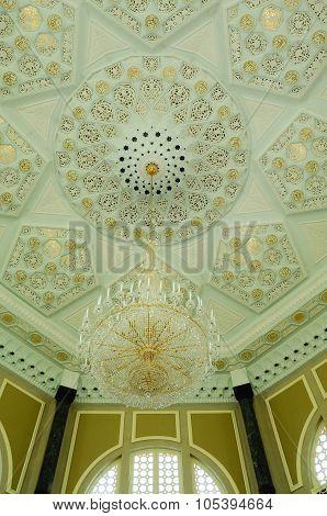 Dome detail of Ubudiah Mosque at Kuala Kangsar, Perak, Malaysia