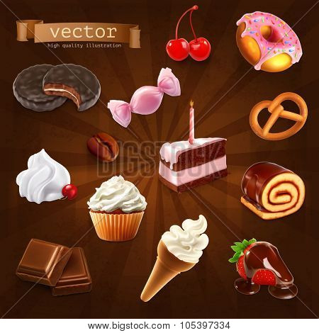 Confectionery, vector set 2