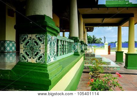 Architectural detail at Air Barok Mosque at Jasin Malacca, Malaysia