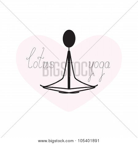 Lotus Yoga Silhouette And Heart