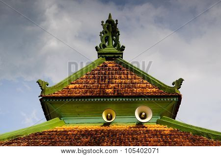 Roof detail at Ayer Barok Mosque at Jasin Malacca, Malaysia