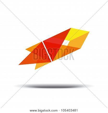 Logo abstract Rocket.