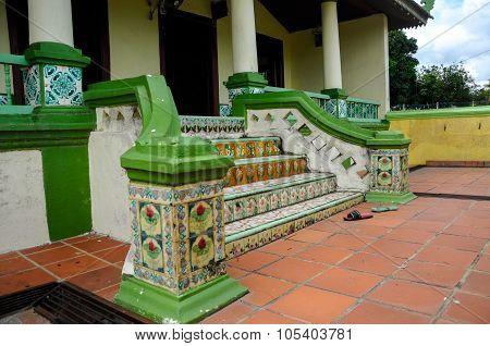 Staircase detail at Air Barok Mosque at Jasin Malacca, Malaysia