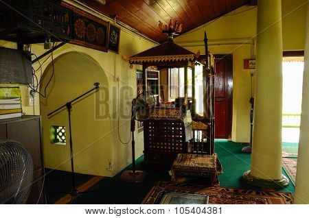 Interior of Air Barok Mosque at Jasin Malacca, Malaysia