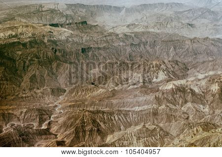 Aerial View Of Iranian Mountains