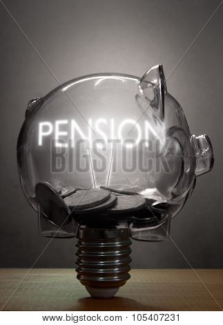 Pension Retirement Savings Concept