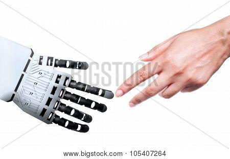 Robot Human Hand Connection