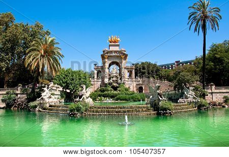 The Parc De La Ciutadella. Barcelona, Spain.