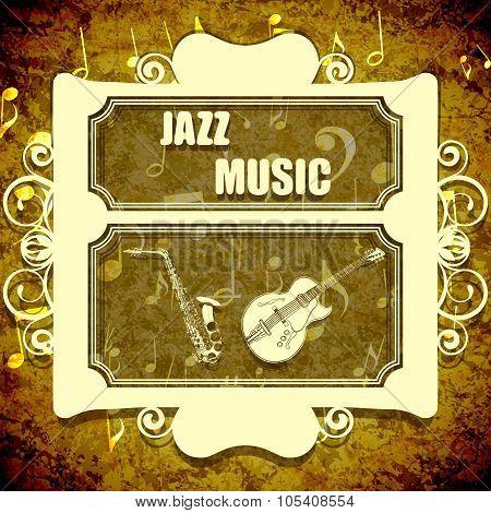 Background Music Jazz Saxophone And Guitar