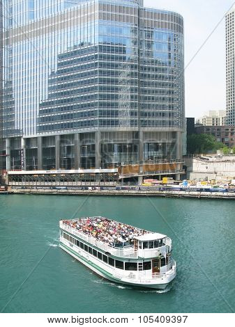 Trump Tower construction site and ferry boat