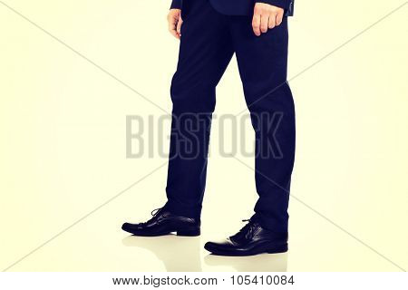 Mature businessman in smart clothes.