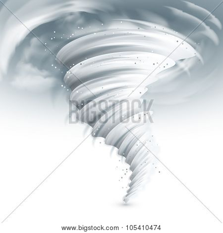 Tornado Sky Illustration