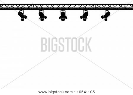 stage lights silhouette