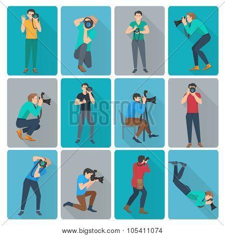 Photographer Icons Set