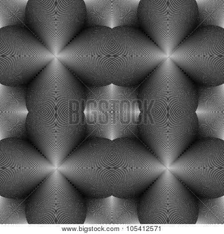 Design Seamless Monochrome Concave Pattern