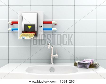 Bill dispenser In The Bathroom, Payment Services