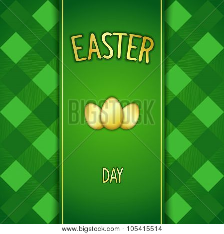 Green Happy Easter card