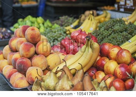 Various fruits on spanish market