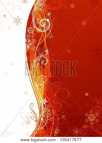 Red And White Christmas Background.