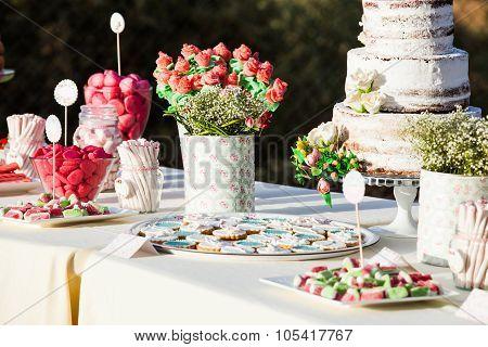 Sweet Table Decor. Wedding Detail.