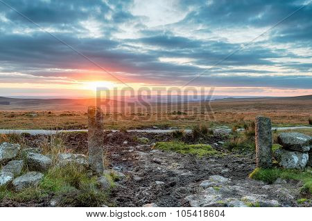 Stunning Sunset Over Dartmoor