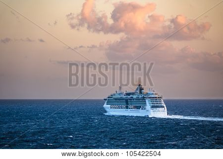A Cruise Ship On The Baltic Sea