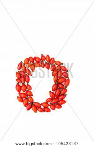 Red Hip Rose Letter O
