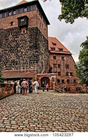 Nurnberg, Germany - July 13 2014. View At The Famous  Kaiserburg Imperial Castle