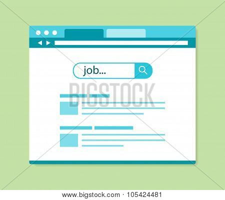 Flat Design Online Job Search Results