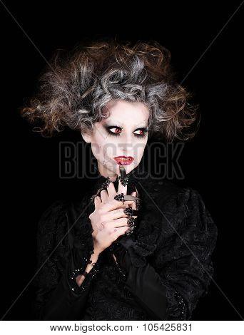 Vampire Woman Portrait, Halloween Make Up