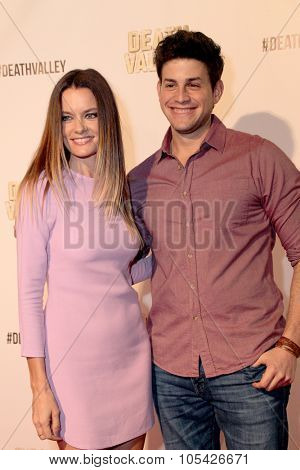 LOS ANGELES- OCT 17: Gina Holden and David Blue arrive at the