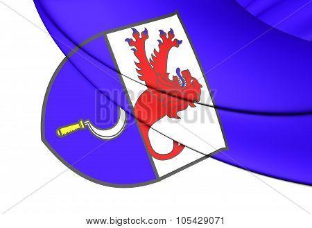 Flag Of Remscheid (north Rhine-westphalia), Germany.