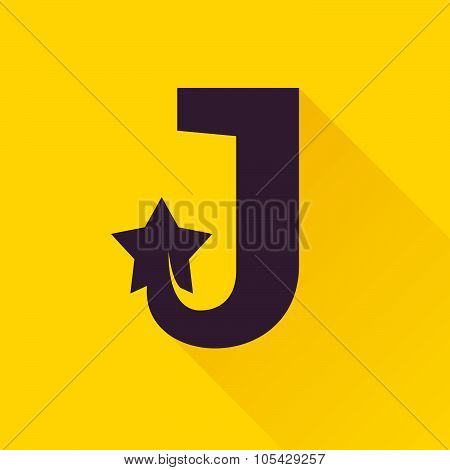 J Letter With Star.