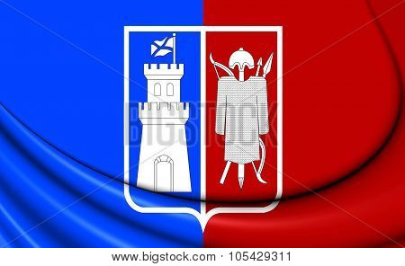 Flag Of Rostov-on-don, Russia.