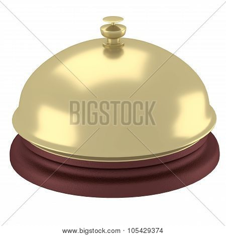 Desk Bell With Reflections 3D Render