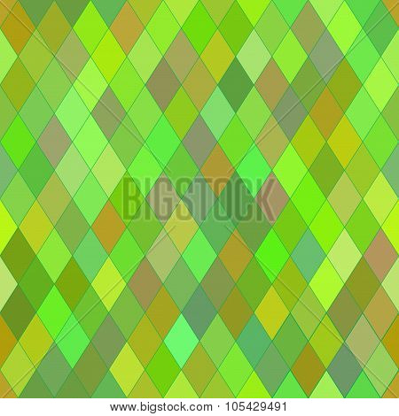Vector Seamless Pattern With Rhombs. Abstract Bright Green Texture. Geometrical Background.