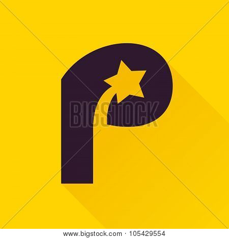 P Letter With Star.