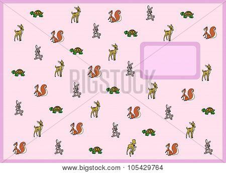Cartoon animal exercise book cover