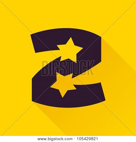 Z Letter With Star.