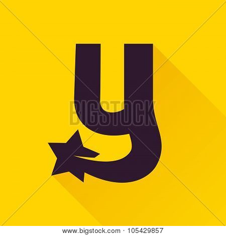 Y Letter With Star.