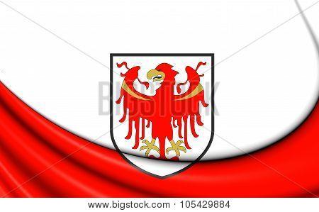 Flag Of South Tyrol, Italy.