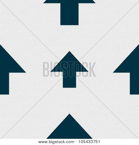 This Side Up Sign Icon. Fragile Package Symbol. Seamless Abstract Background With Geometric